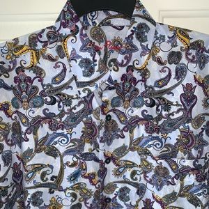 Men's Paisley Button Down Shirt